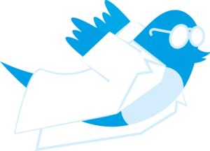 image of twitter icon as scientist