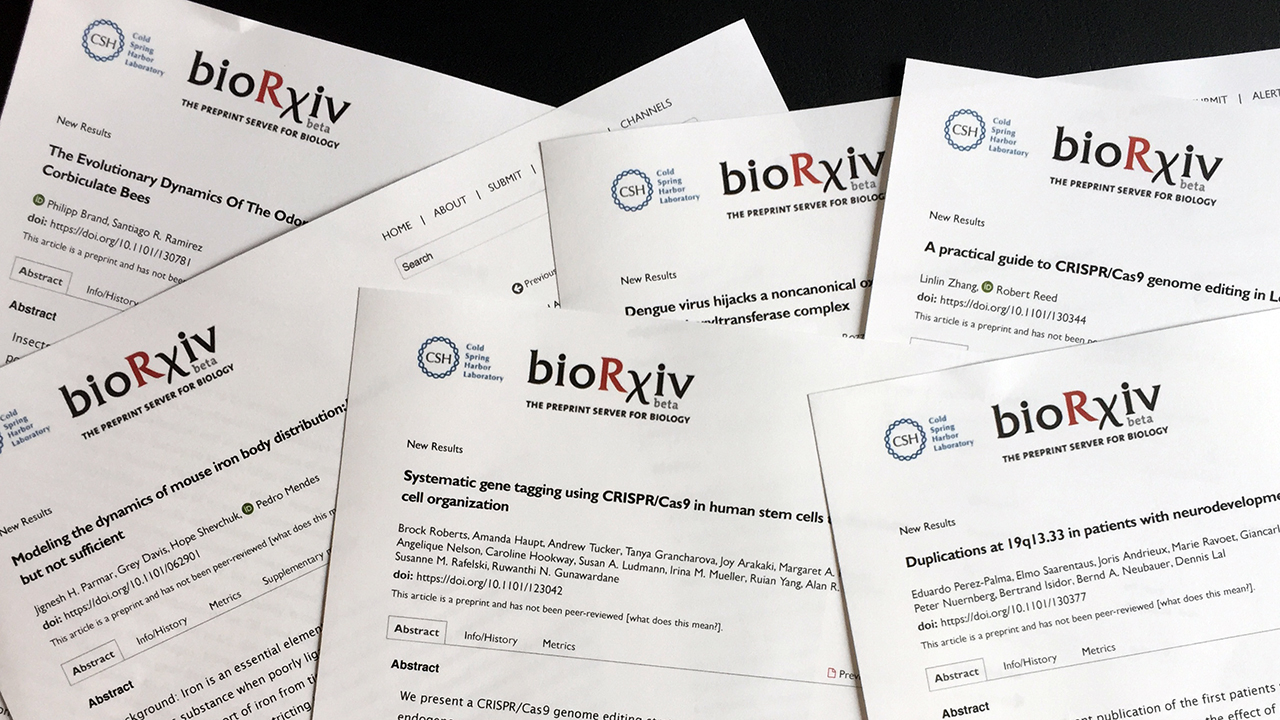 bioRxiv: power to the pre-print